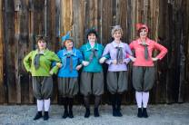 The Pick-A-Little Ladies outside the Fallon House Theater