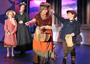 "Ashley plays the Bird Woman in Sierra Repertory Theater's ""Mary Poppins"""
